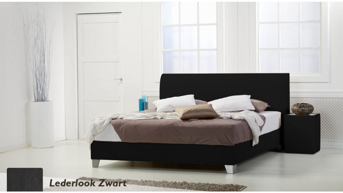 waterbed basic box pro lederlook bruin boxspring-look