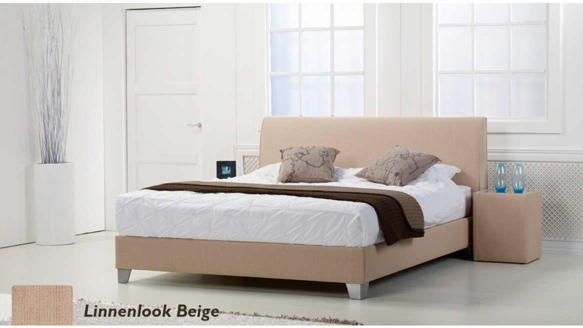 waterbed basic box pro linnenlook beigeboxspring-look