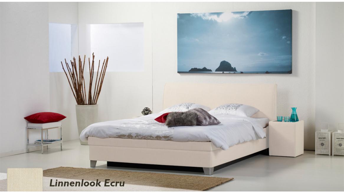 waterbed luxe box pro linnenlook ecru