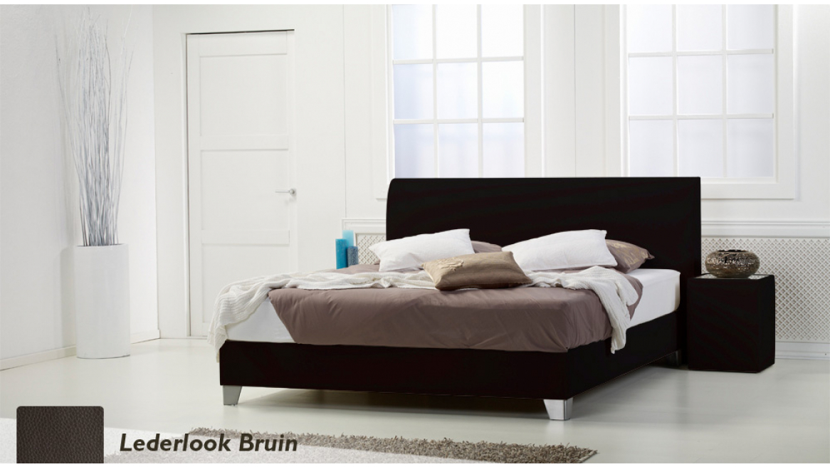 waterbed basic box pro lederlook zwart boxspring-look