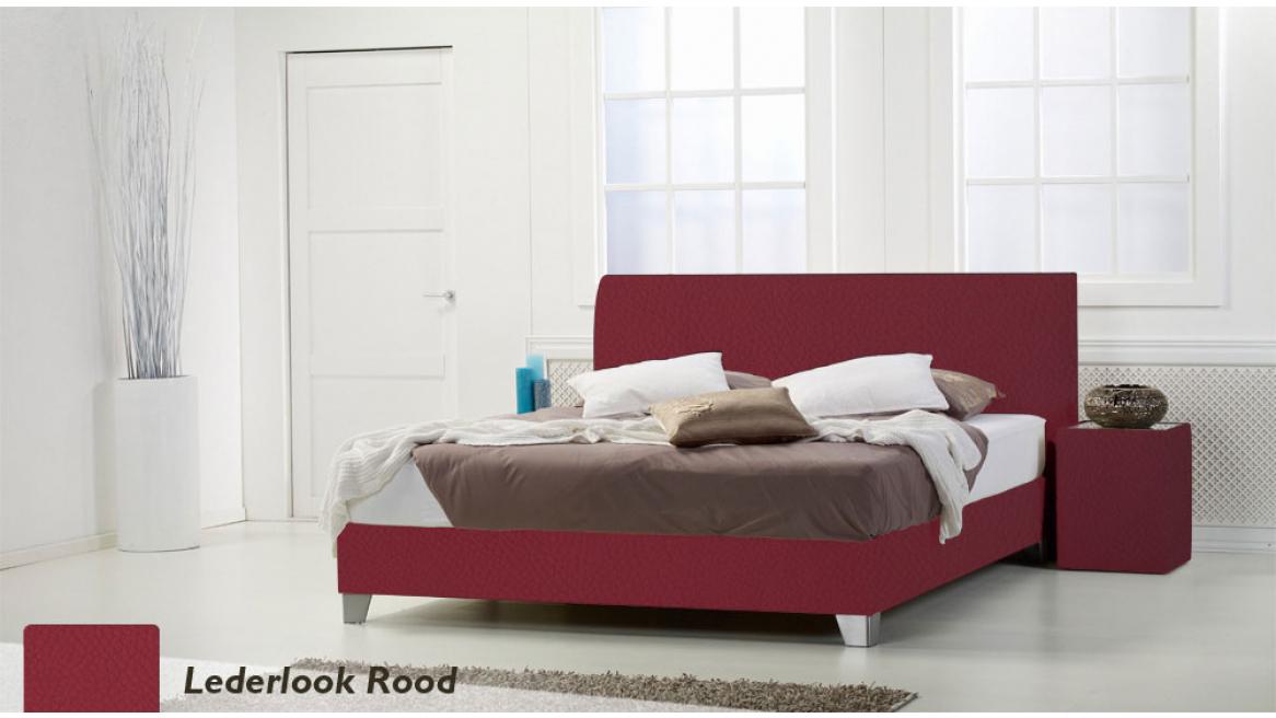 waterbed basic box pro lederlook rood boxspring-look