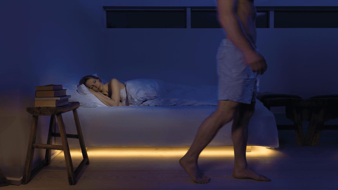 uitstapverlichting in slaapkamer