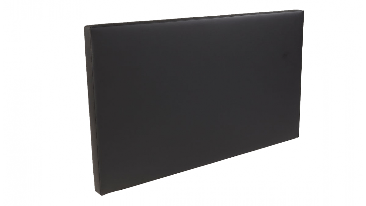 hoofdbord voor waterbedden zwart