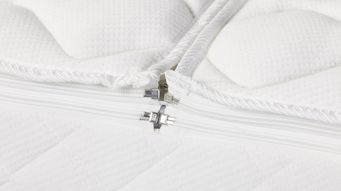 Luxe Clima Dubbeldoek waterbed tijk ritsen close-up