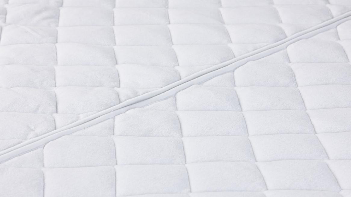 waterbed tijk wash cotton stretch middenstuk met rits