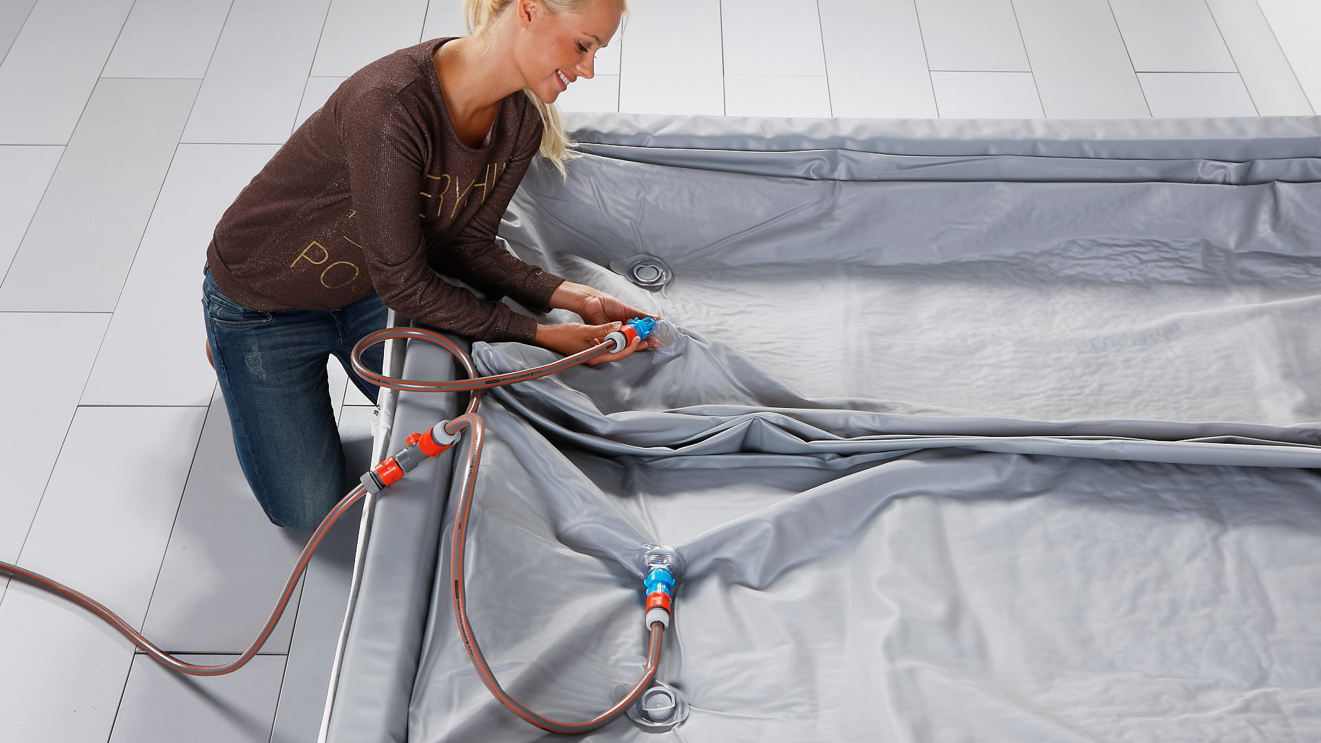 Wasserbett Luxus Pro Wasserkern mit Wasser füllen