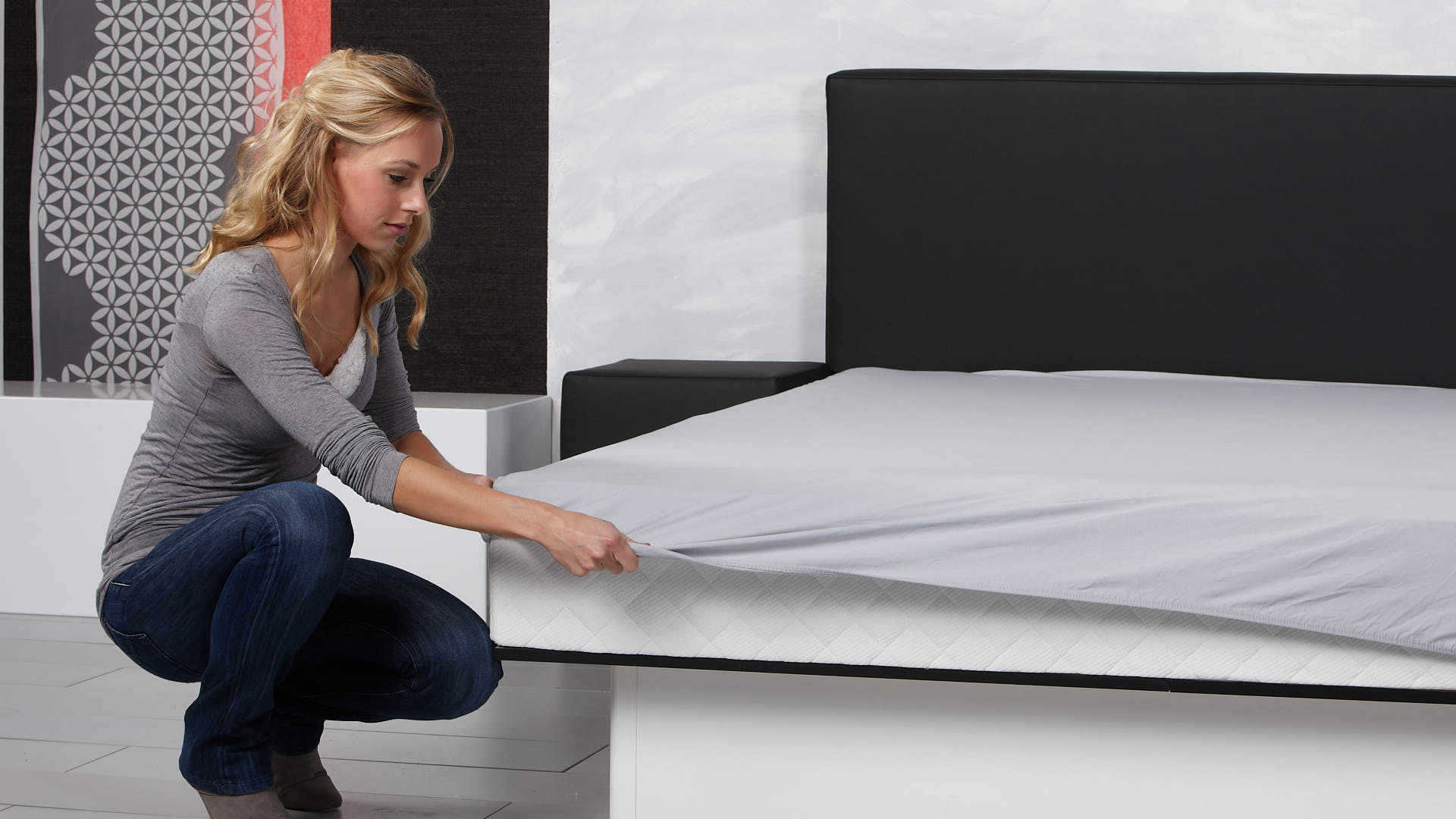 waterbed basic hoeslaken vastmaken