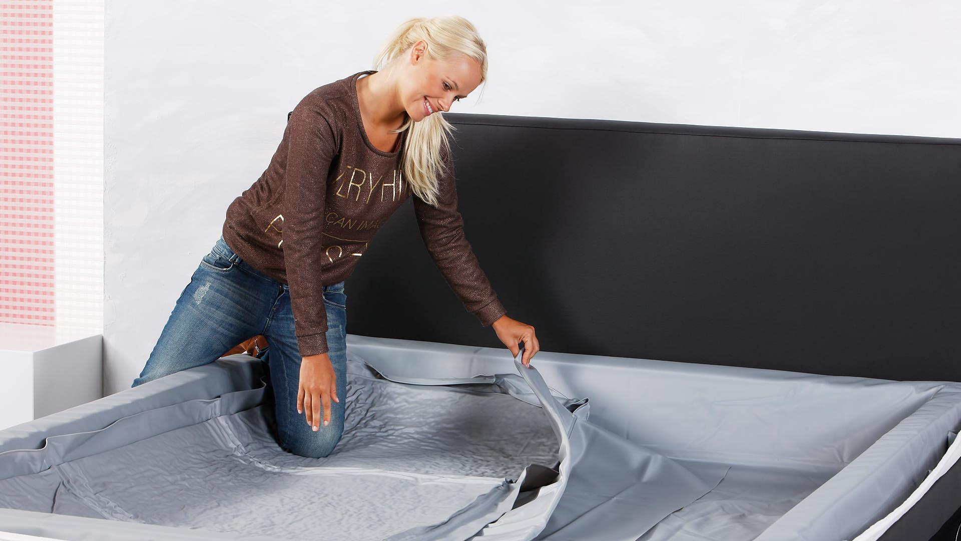waterbed inbouw thermo scheidingswand in het middel goed leggen