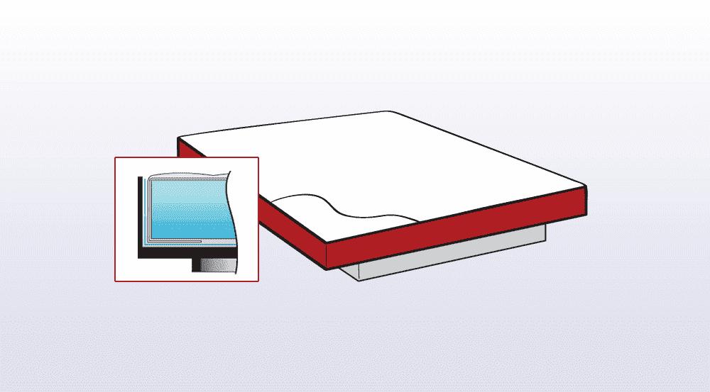 voorbeeld van een hardside waterbed
