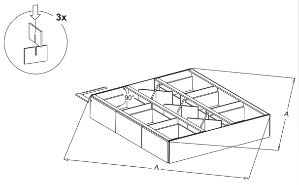 waterbed ladenblokken kruizen