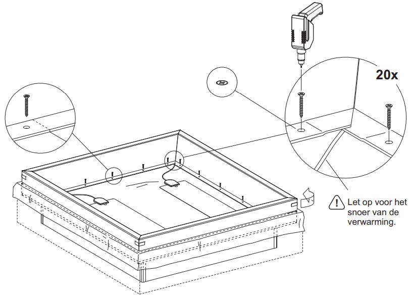waterbed inbouw schuimranden