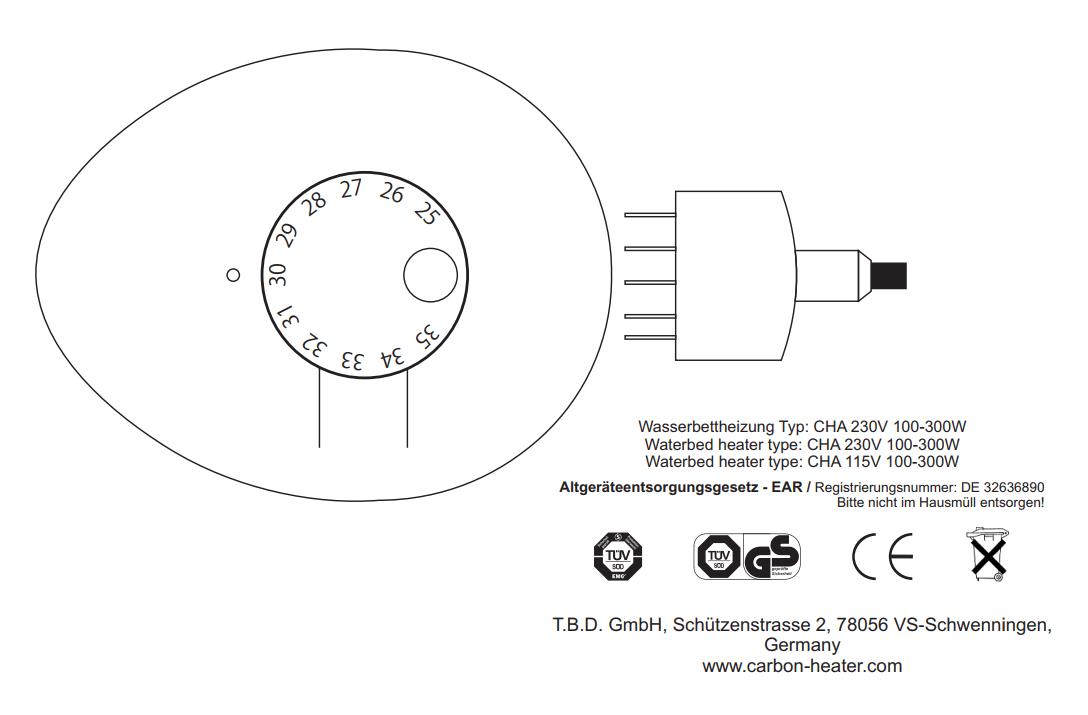 carbon verwarming classic analoog handleiding