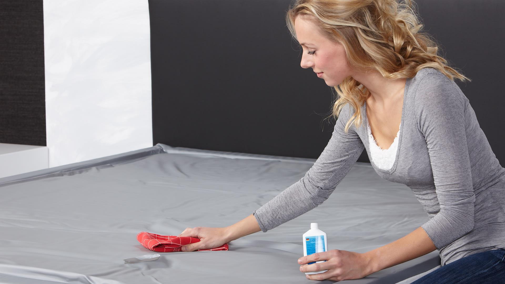 waterbed schoonmaken met vinylreiniger