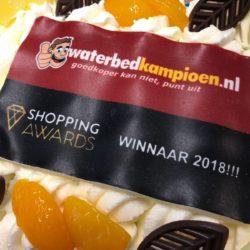 Waterbed Kampioen wint Nederlandse Shopping Award in de categorie 'Wonen & Slapen'